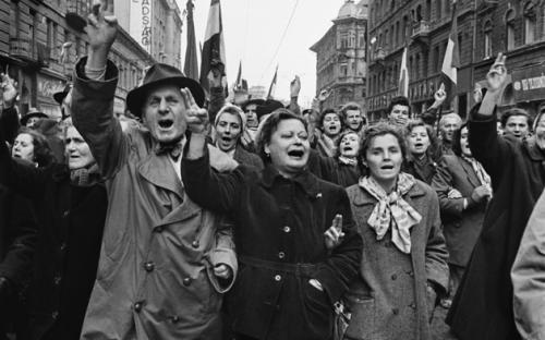 Demonstration in Budapest am 23. Oktober 1956